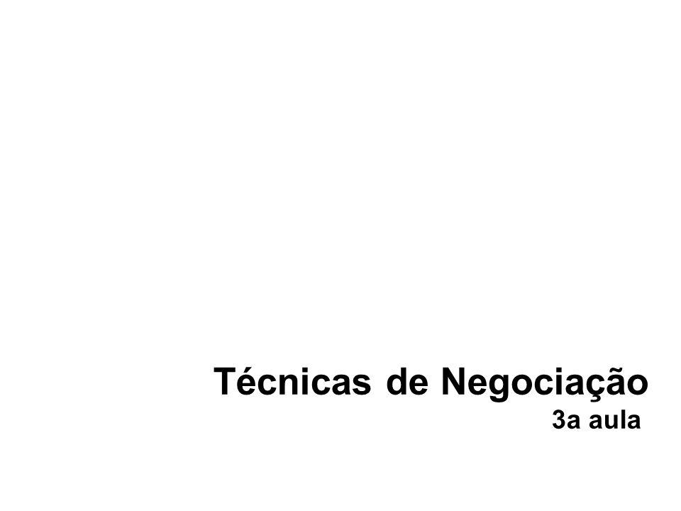 Técnicas de Negociação 3a aula