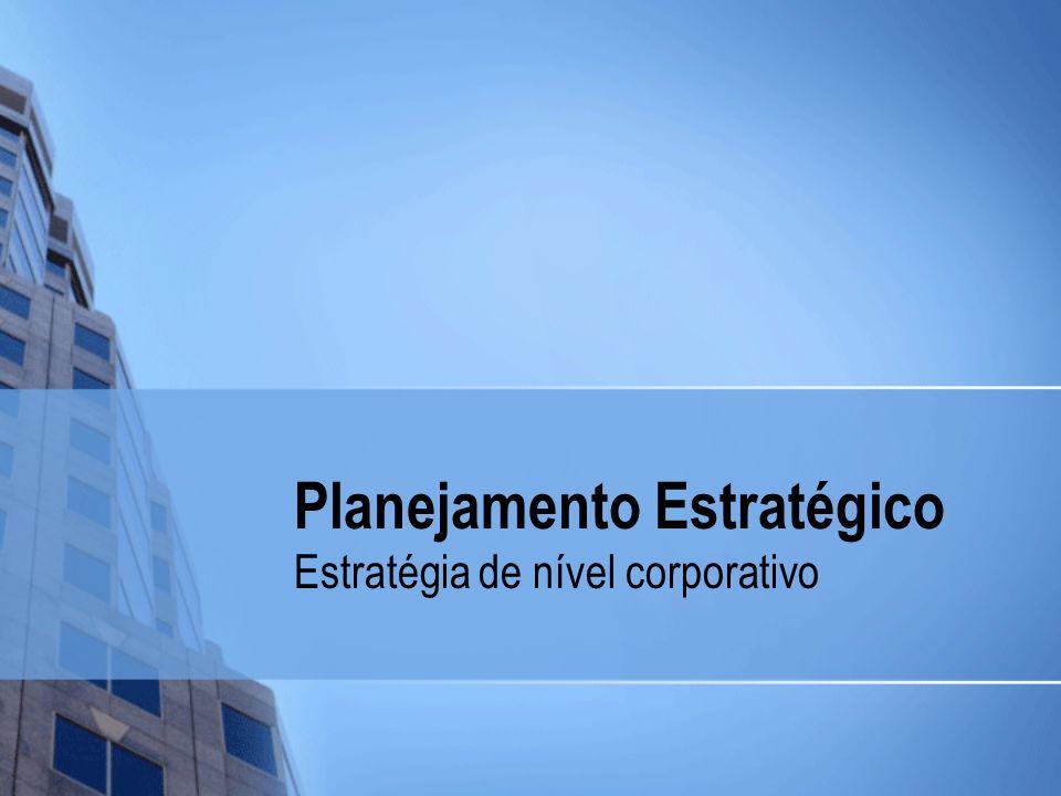 Planejamento Estratégico Estratégia de nível corporativo
