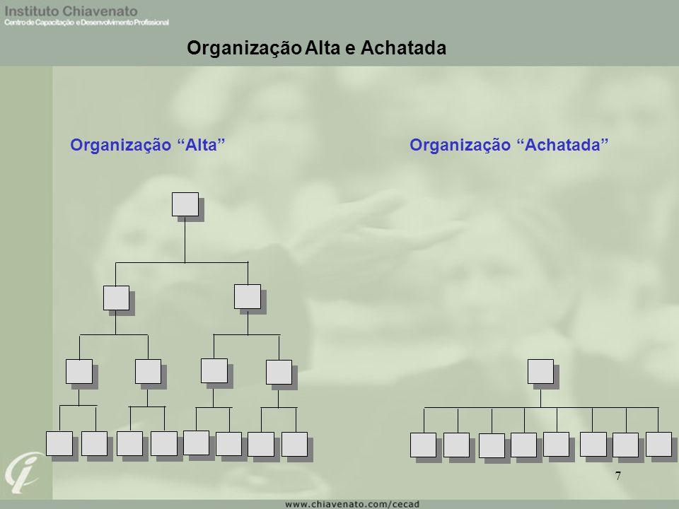 Organização Alta e Achatada Organização AltaOrganização Achatada 7