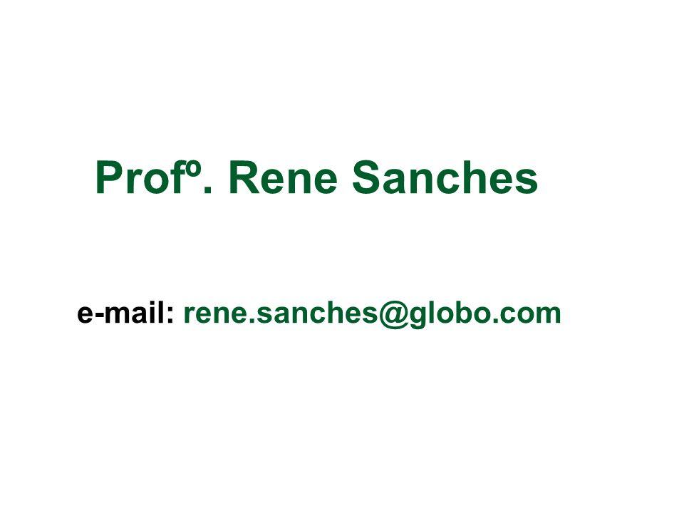 Profº. Rene Sanches e-mail: rene.sanches@globo.com