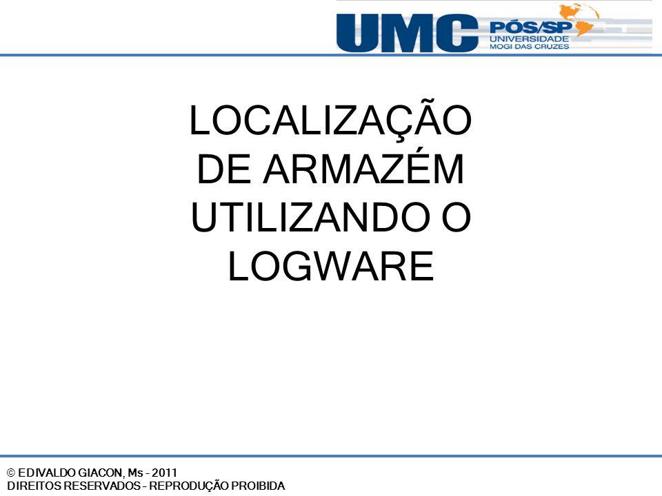 LOCALIZAÇÃO DE ARMAZÉM UTILIZANDO O LOGWARE