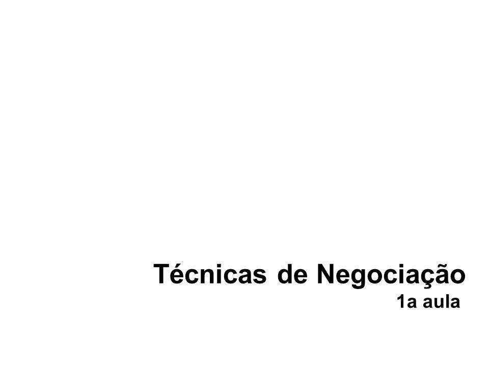 Técnicas de Negociação 1a aula