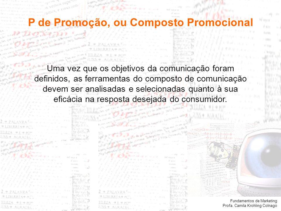 Fundamentos de Marketing Profa. Camila Krohling Colnago Propaganda