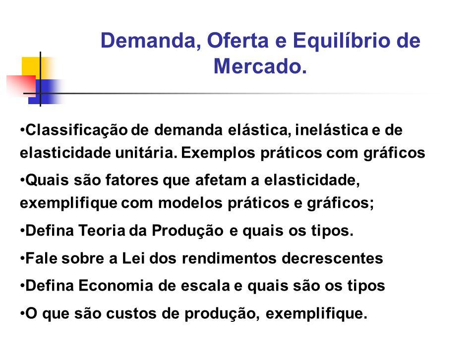 4 Classificação de demanda elástica, inelástica e de elasticidade unitária. Exemplos práticos com gráficos Quais são fatores que afetam a elasticidade