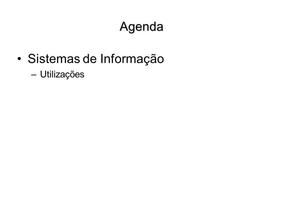 Agenda Sistemas de Informação –Utilizações