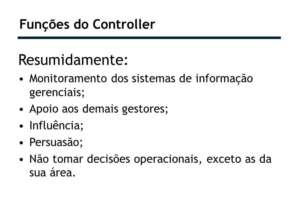 Resumidamente: Monitoramento dos sistemas de informação gerenciais; Apoio aos demais gestores; Influência; Persuasão; Não tomar decisões operacionais,