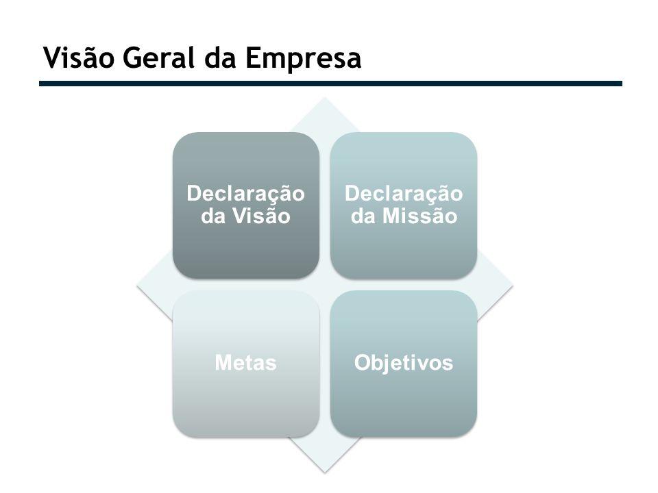 Visão Geral da Empresa Declaração da Visão Declaração da Missão MetasObjetivos