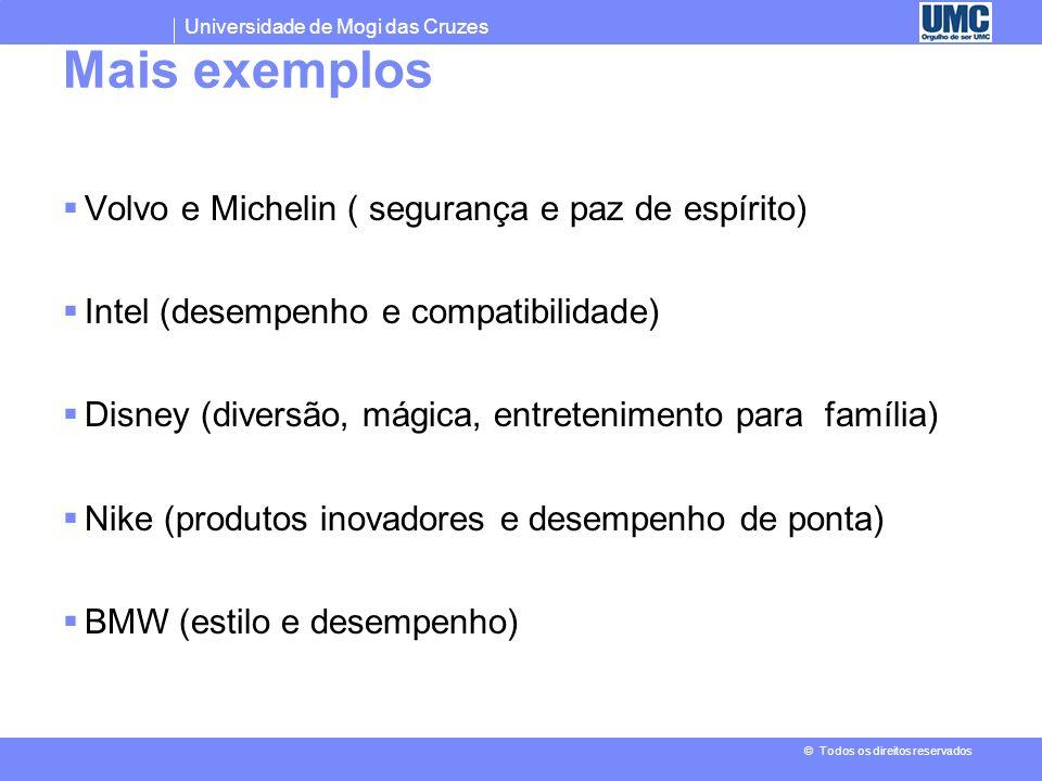 Universidade de Mogi das Cruzes © Todos os direitos reservados Exemplos Estudo sobre salgadinhos (observação de um entrevistado) - Batatinha com sabor
