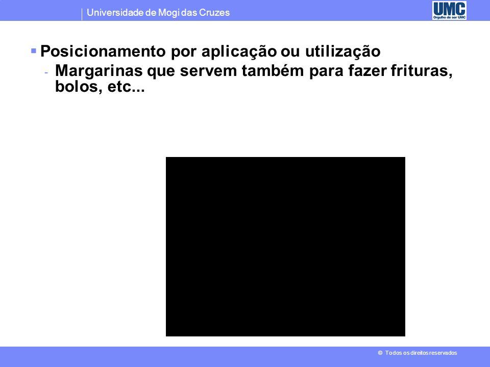 Universidade de Mogi das Cruzes © Todos os direitos reservados Posicionamento por usuário (melhor para algum grupo de usuários) - Cartão de credito Re