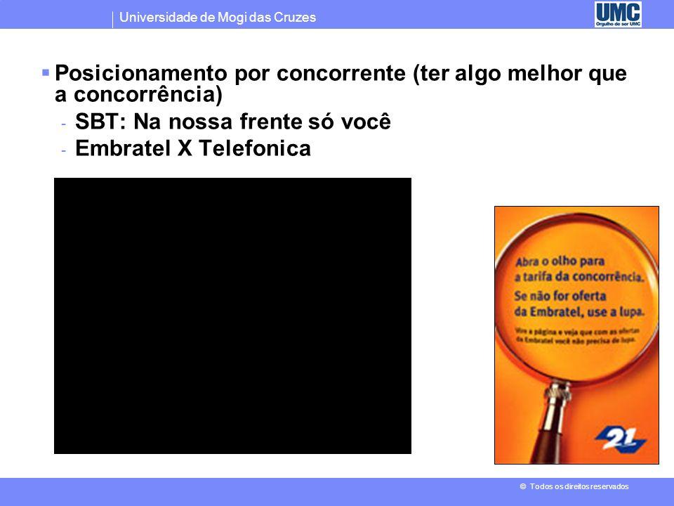 Universidade de Mogi das Cruzes © Todos os direitos reservados Posicionamento por aplicação ou utilização - Margarinas que servem também para fazer fr