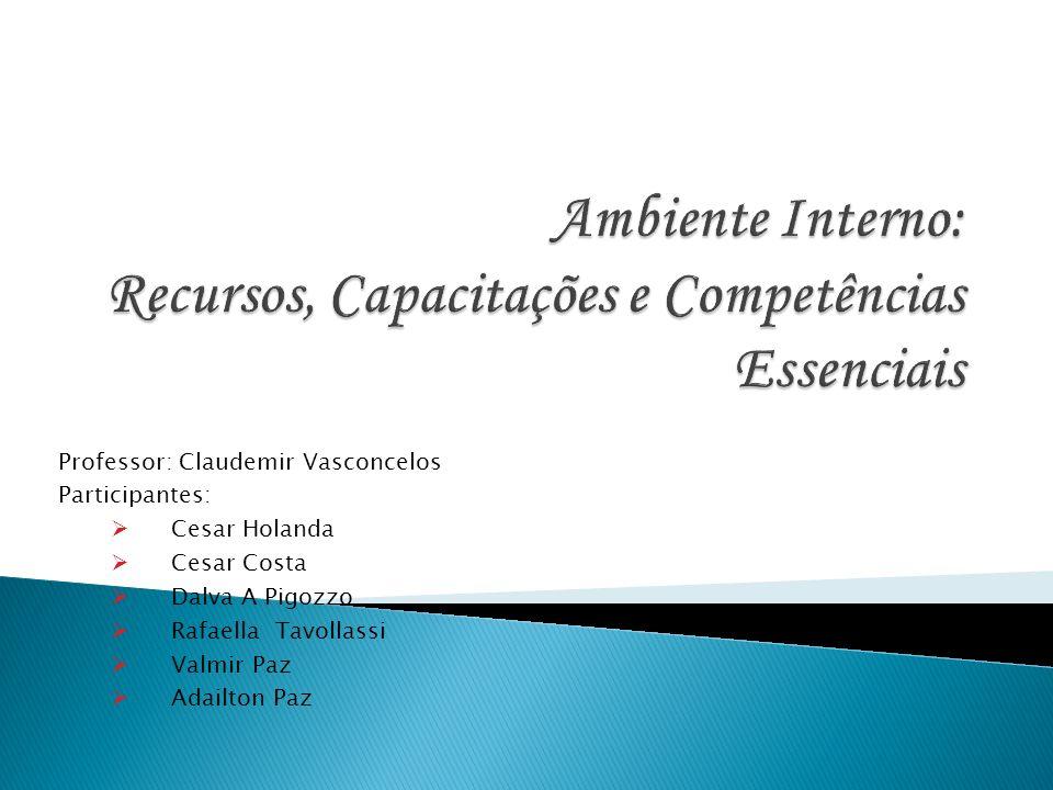 Professor: Claudemir Vasconcelos Participantes: Cesar Holanda Cesar Costa Dalva A Pigozzo Rafaella Tavollassi Valmir Paz Adailton Paz