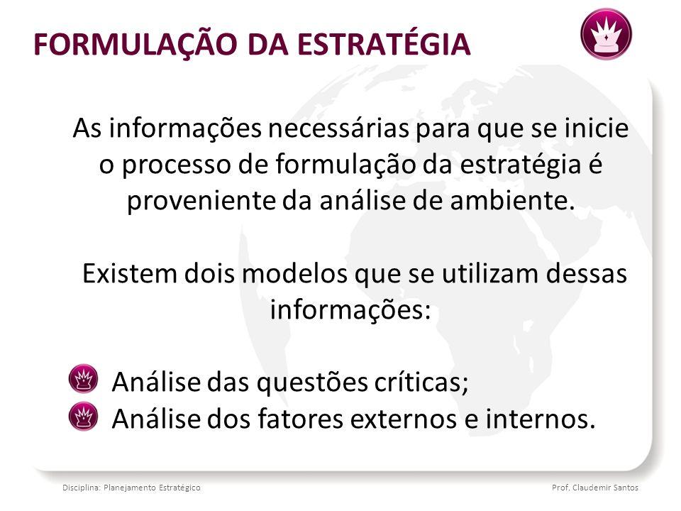 Disciplina: Planejamento EstratégicoProf. Claudemir Santos OBRIGADO