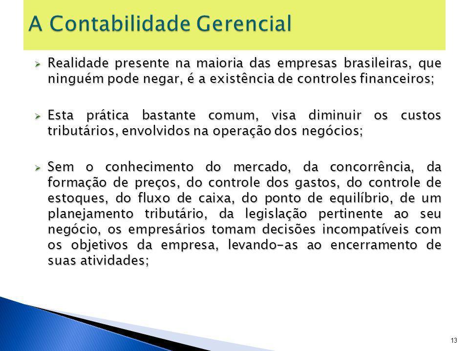 Realidade presente na maioria das empresas brasileiras, que ninguém pode negar, é a existência de controles financeiros; Realidade presente na maioria