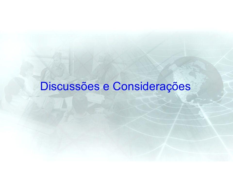 Discussões e Considerações