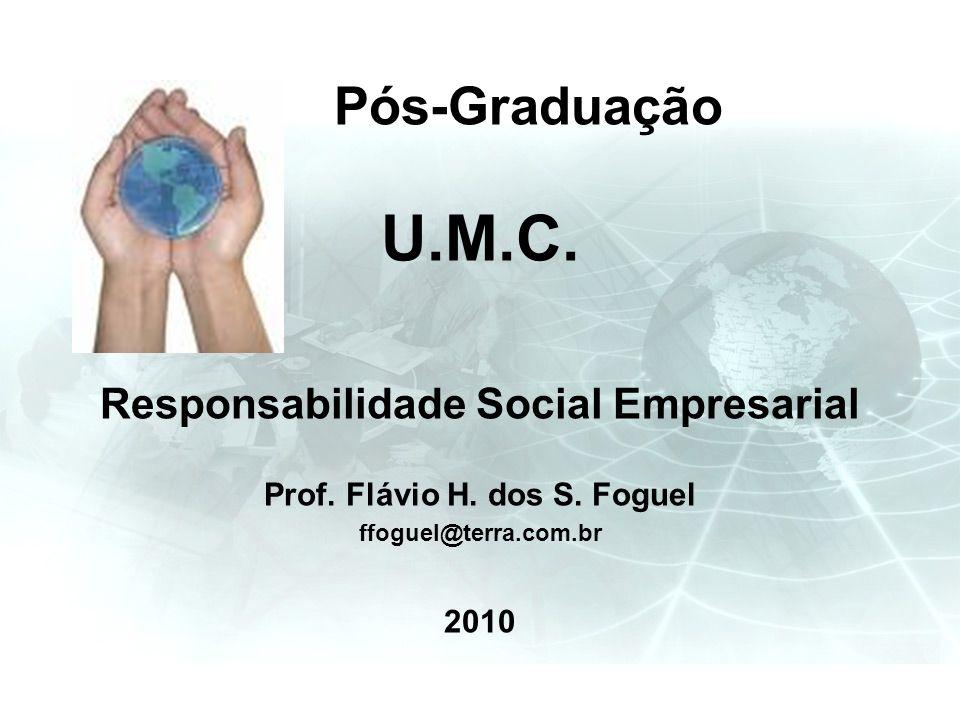 Pós-Graduação U.M.C. Responsabilidade Social Empresarial Prof. Flávio H. dos S. Foguel ffoguel@terra.com.br 2010