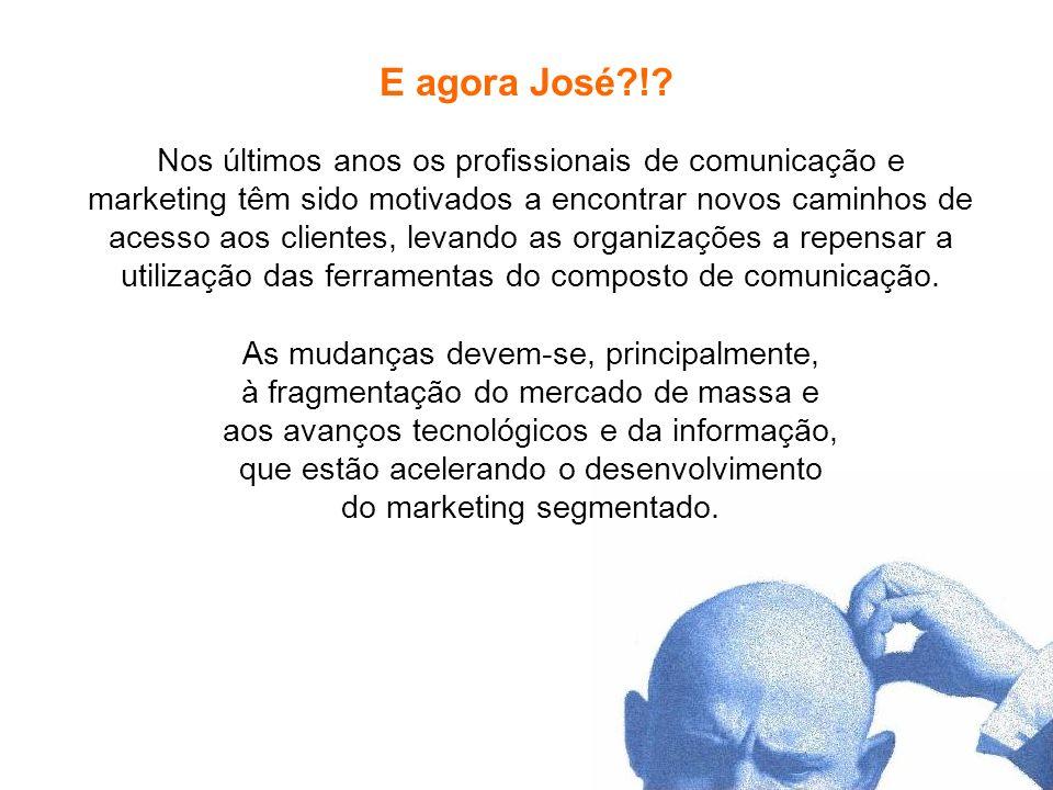 Pesquisa de Marketing Profa. Camila Krohling Colnago E agora José?!? Nos últimos anos os profissionais de comunicação e marketing têm sido motivados a