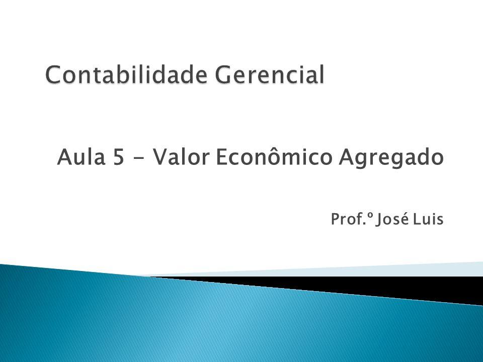 Aula 5 - Valor Econômico Agregado Prof.º José Luis