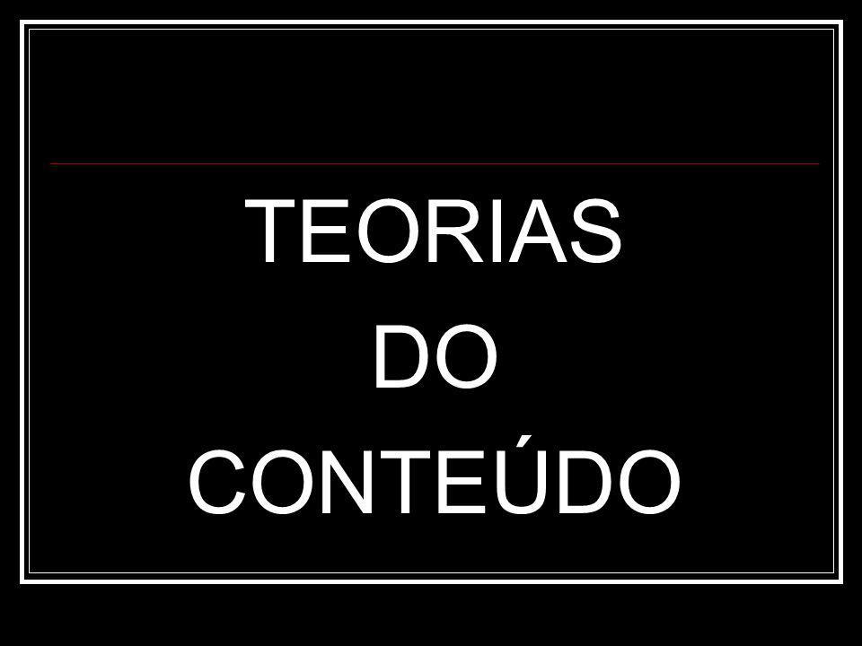 TEORIAS DO CONTEÚDO