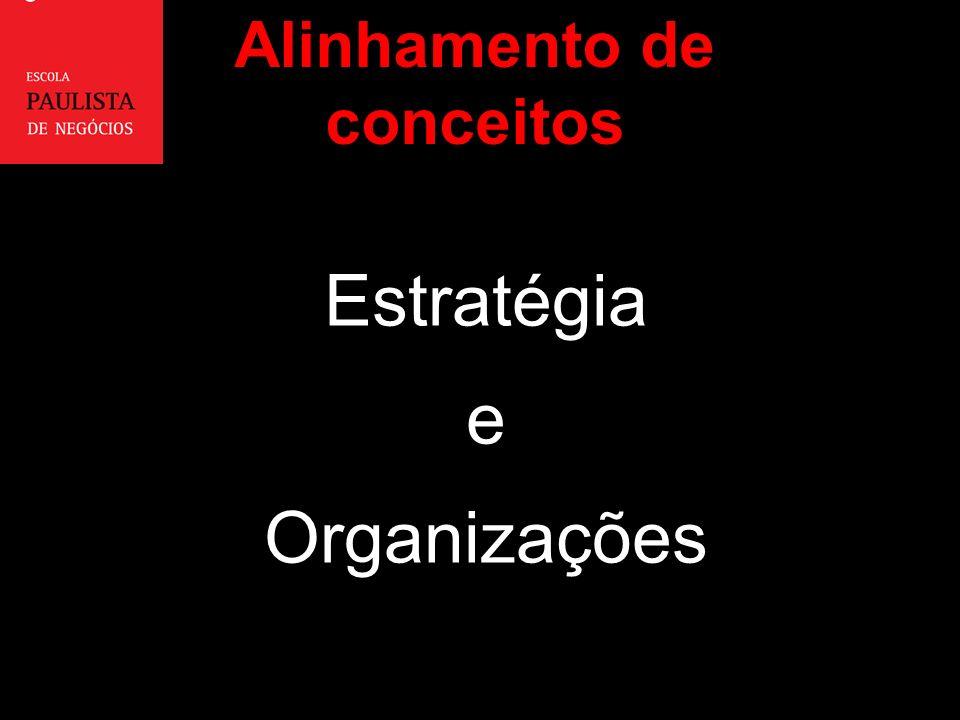 Estratégia e Organizações Alinhamento de conceitos