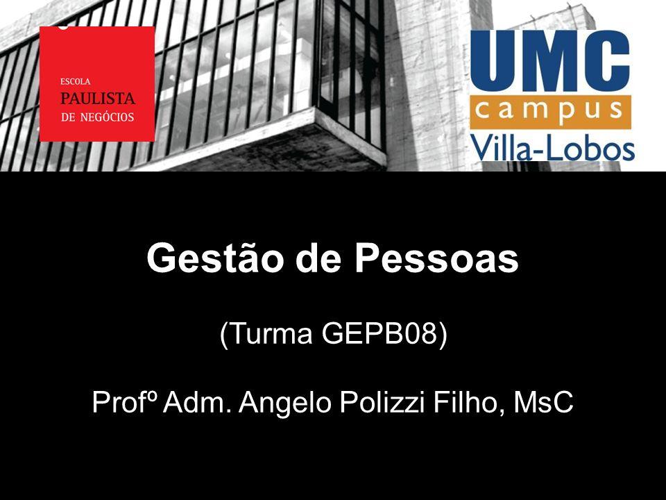Gestão de Pessoas (Turma GEPB08) Profº Adm. Angelo Polizzi Filho, MsC