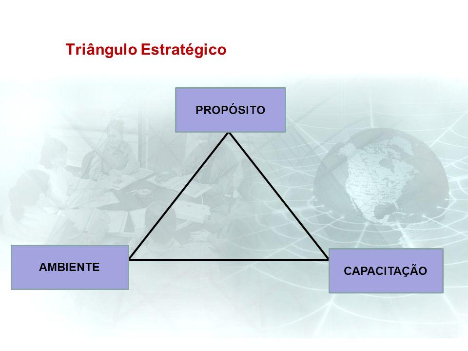 Triângulo Estratégico PROPÓSITO CAPACITAÇÃO AMBIENTE
