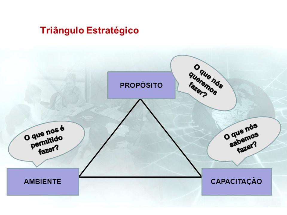 Triângulo Estratégico PROPÓSITO CAPACITAÇÃOAMBIENTE