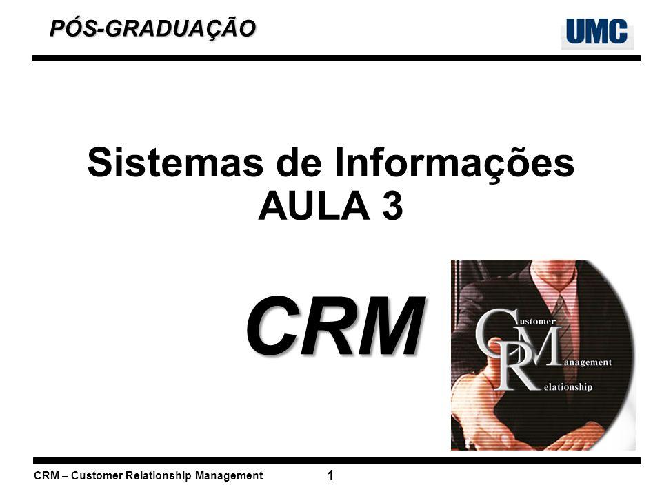 CRM – Customer Relationship Management 12 Vendas – Gerar integração ao longo de todos os canais de venda e aumentar o desempenho global da força de vendas.