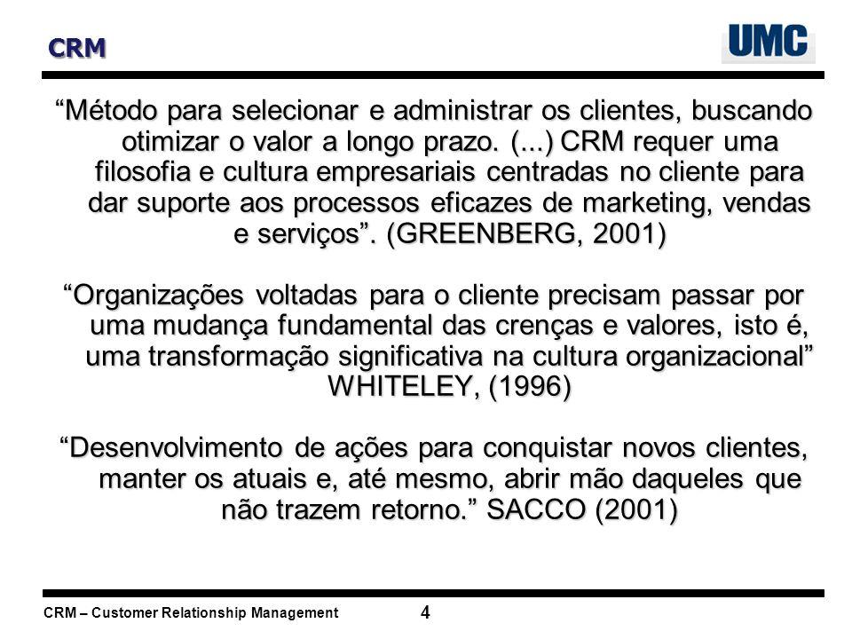 CRM – Customer Relationship Management 35 Bibliografia ANDERSON, Kristin; KERR, Carol.