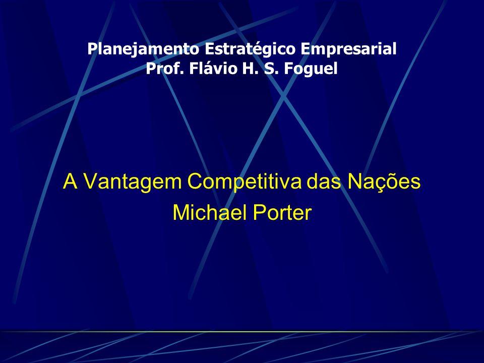 Planejamento Estratégico Empresarial Prof. Flávio H. S. Foguel A Vantagem Competitiva das Nações Michael Porter