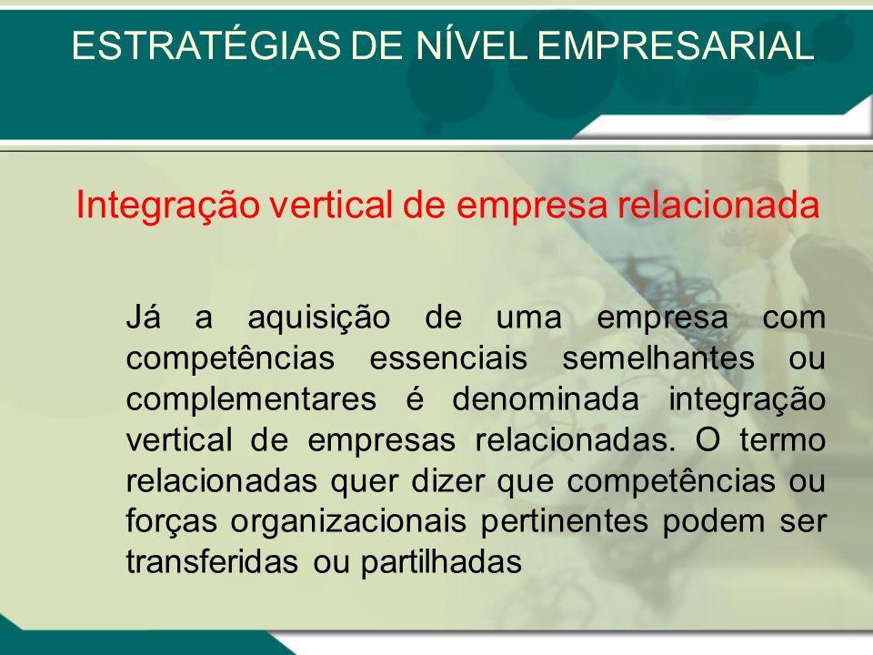 Integração vertical significa a atuação de uma empresa em mais de um estágio do processo produtivo. Esse procedimento pode se tornar rentável, na medi