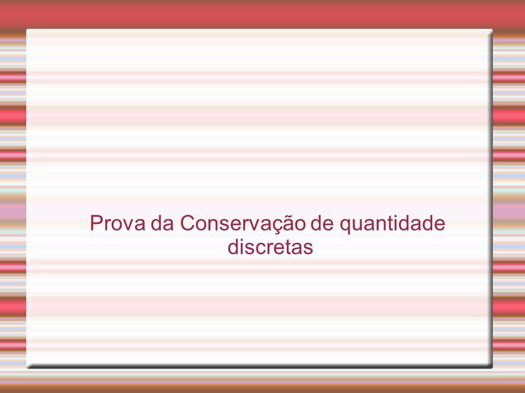 Avaliação Resposta de nível 1 – ausência da conservação da forma e quantidade..