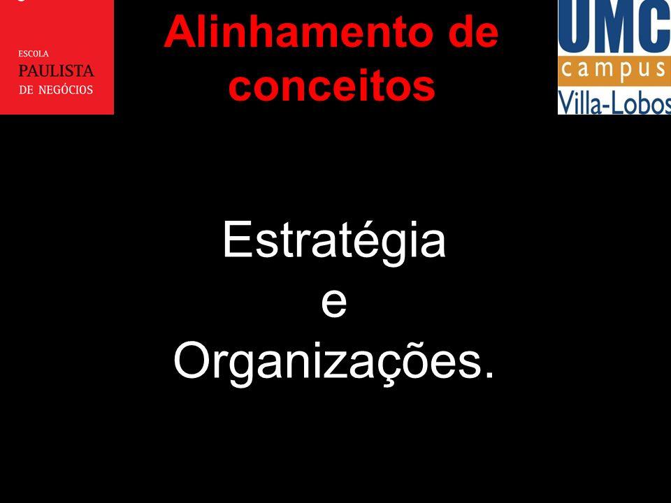 Estratégia e Organizações. Alinhamento de conceitos