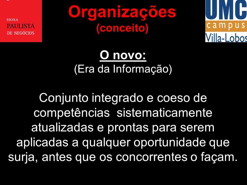 O novo: (Era da Informação) Conjunto integrado e coeso de competências sistematicamente atualizadas e prontas para serem aplicadas a qualquer oportuni