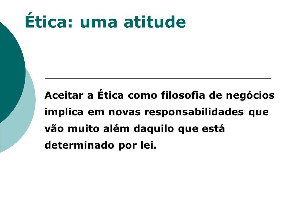Ética: uma atitude Promover e incentivar formas eficazes de gestão do relacionamento com seus diversos públicos.