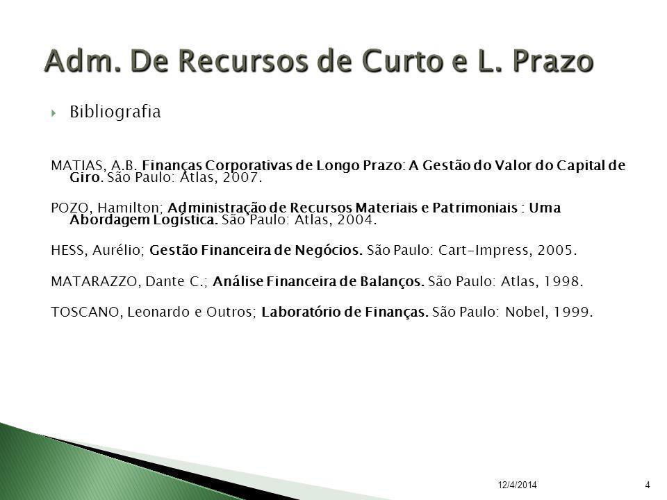 Bibliografia MATIAS, A.B.
