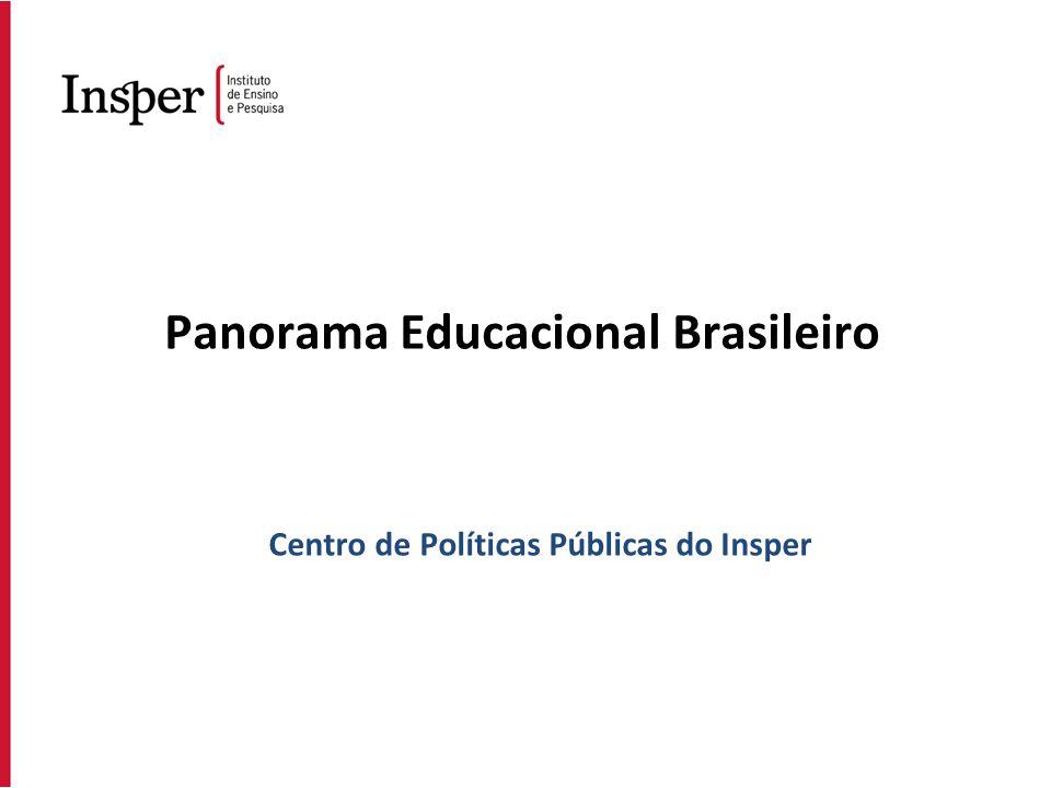 Panorama Educacional Brasileiro Centro de Políticas Públicas do Insper