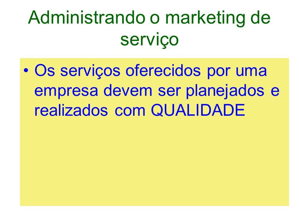 Administrando o marketing de serviço O que significa QUALIDADE em serviços?