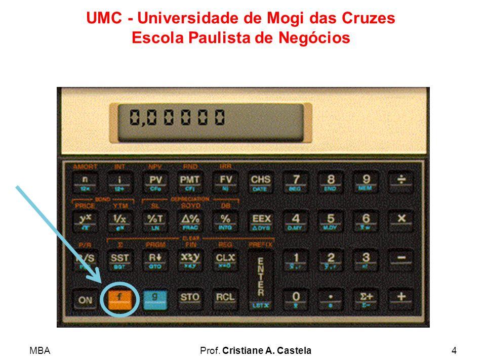 MBAProf. Cristiane A. Castela5 UMC - Universidade de Mogi das Cruzes Escola Paulista de Negócios