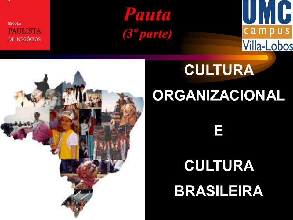 Crenças Atitudes Valores Os comportamentos de executivos e trabalhadores baseiam-se: Parte I – Cultura e Organizações no Brasil Moldam e contorno cultural de um individuo ou grupo, estabelecendo padrões de comportamento (paradigmas) Práticas com a finalidade de perpetuar, no dia-a-dia, os valores pessoais na organização.