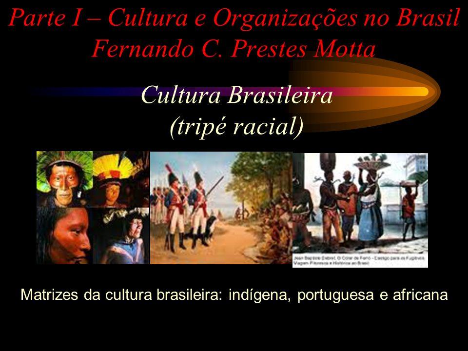 Cultura Brasileira - Indígena Conhece-se quase nada a respeito das origens da cultura indígena, a não ser a enorme diferença com relação à portuguesa; Estavam divididos em inúmeros grupos étnicos e culturais.