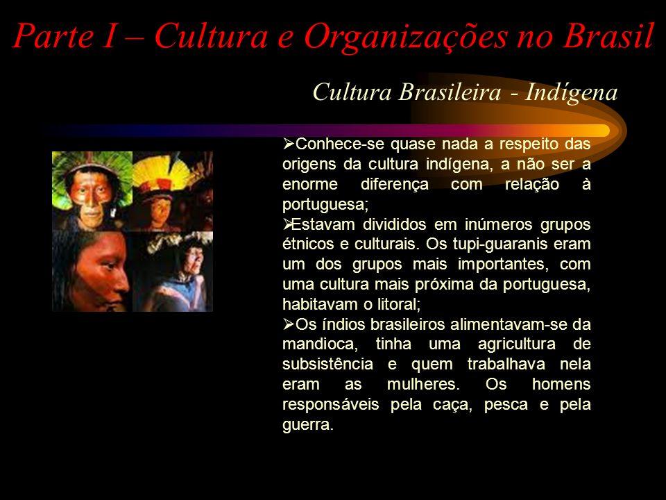Cultura Brasileira - Portuguesa Parte I – Cultura e Organizações no Brasil Os portugueses eram um povo de comerciantes e navegadores; Tiveram origens muito diversas, entre as quais os romanos, os bárbaros suevos, os árabes, os berberes e os judeus sefaraditas.