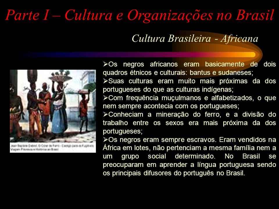 CULTURA CABOCLO OU MAMELUCA CULTURA SERTANEJA CULTURA CAIPIRA CULTURA DO IMIGRANTE CULTURA DE GRINGOS CULTURA DE MATUTOS CULTURA GAÚCHA Parte I – Cultura e Organizações no Brasil Cultura Brasileira