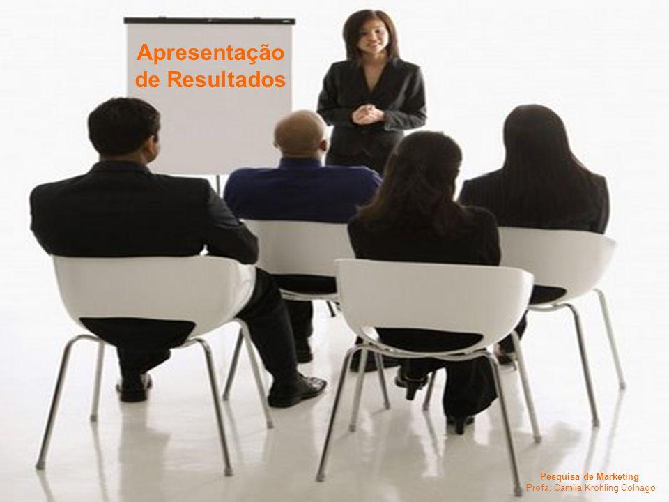 Pesquisa de Marketing Profa. Camila Krohling Colnago Apresentação de Resultados Pesquisa de Marketing Profa. Camila Krohling Colnago