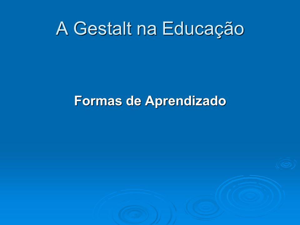 A Gestalt na Educação Formas de Aprendizado