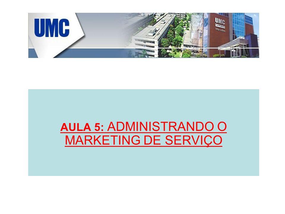 AULA 5: ADMINISTRANDO O MARKETING DE SERVIÇO