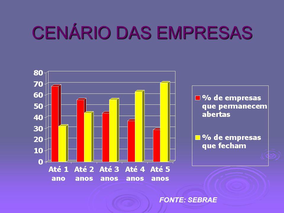CENÁRIO DAS EMPRESAS FONTE: SEBRAE