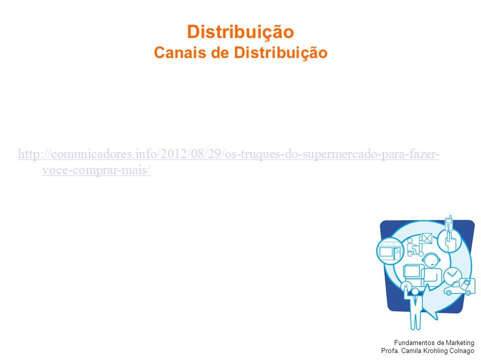 Fundamentos de Marketing Profa. Camila Krohling Colnago http://comunicadores.info/2012/08/29/os-truques-do-supermercado-para-fazer- voce-comprar-mais/