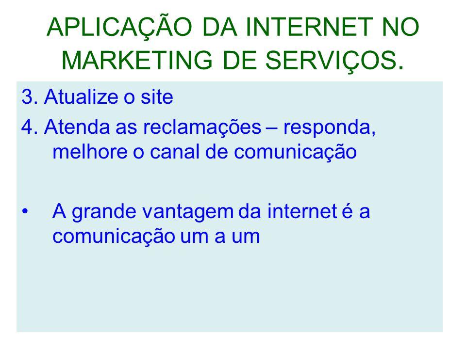 APLICAÇÃO DA INTERNET NO MARKETING DE SERVIÇOS.3.