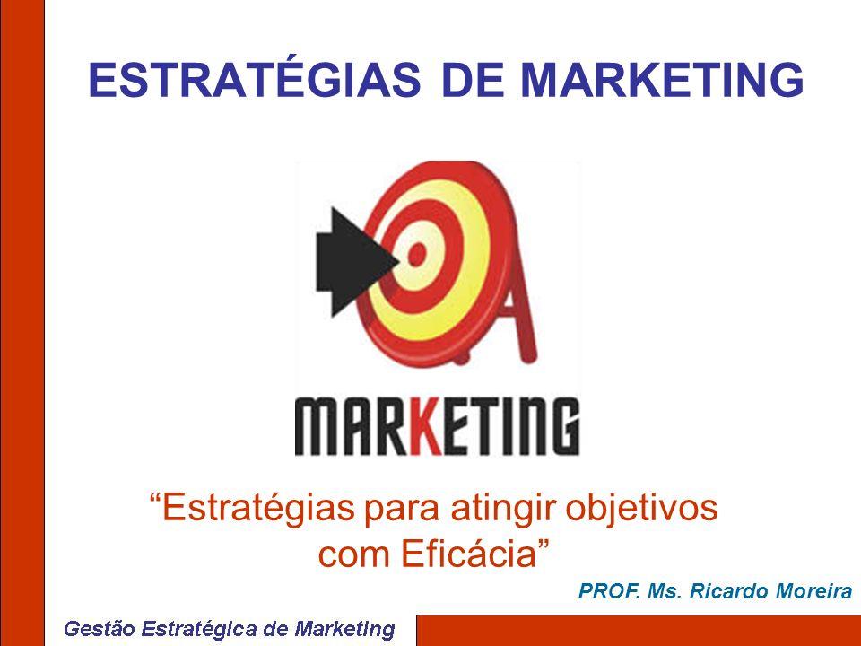 ESTRATÉGIAS DE MARKETING Estratégias para atingir objetivos com Eficácia PROF. Ms. Ricardo Moreira