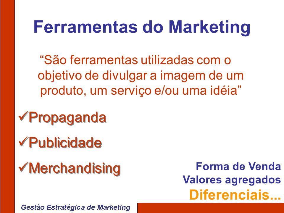 Ferramentas do Marketing São ferramentas utilizadas com o objetivo de divulgar a imagem de um produto, um serviço e/ou uma idéia Propaganda Publicidad